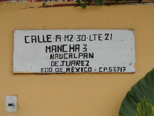 Street Address, Naucalpan, Estado de México, Mexico, 2013.