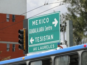 Road Sign, Guadalajara, Jalisco, Mexico, 2014.