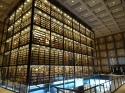 Interior of the Beinecke Library, Yale University, New Haven, USA, 2017. Photo by Jason Dyck.